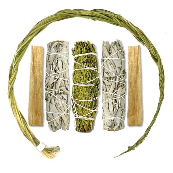 Smudge Kit with Sweetgrass Braid